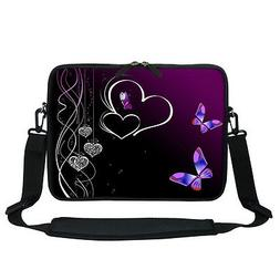 Neoprene Laptop Bag Case with Shoulder Strap Fit 12 inch Chr