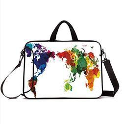 """17"""" Neoprene Laptop Bag Sleeve with Handle,Adjustable Should"""