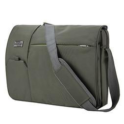 VanGoddy Olive Green Executive Anti-Theft Laptop Messenger B