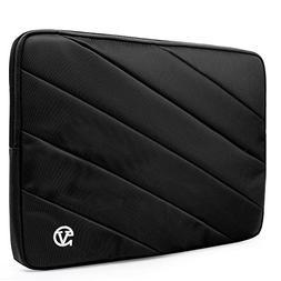 VanGoddy Onyx Black Shock Absorbent Laptop Sleeve Suitable f