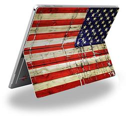 Painted Faded and Cracked USA American Flag - Decal Style Vi
