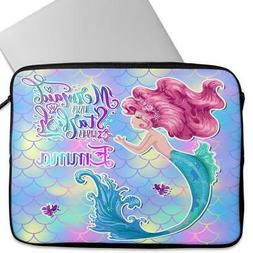 MERMAID Laptop Sleeve Universal Neoprene Cover Childrens Per