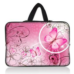 "Pink Butterfly 10 in Case Soft Bag For 9.7"" 10"" 10.1"" 10.2"""