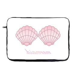Pink Mermaid Shell Laptop Case Sleeve Tablet Bag  Chromebook