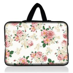 "Pink Rose 10 in Case Soft Bag For 9.7"" 10"" 10.1"" 10.2"" iPad"