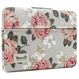 Canvaslife Pink Rose Patten Laptop Sleeve 14 Inch 14.0 Case