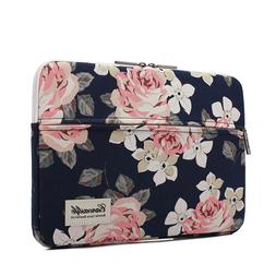 pink rose patten laptop sleeve