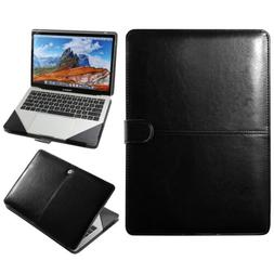 Premium Leather Laptop Folio Sleeve Case Cover Bag For Macbo