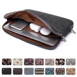 Printed Canvas Laptop Sleeve Double Zipper Netbook Pouch Pro