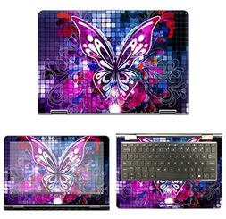decalrus - Protective Decal Butterfly Skin Sticker for HP Pa