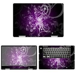 decalrus - Protective Decal Floral Skin Sticker for Dell Ins