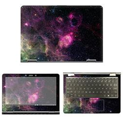 decalrus - Protective Decal Galaxy Skin Sticker for HP Pavil