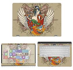 decalrus Protective Decal Tattoo Skin Sticker for Asus 2-in-