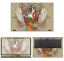 decalrus Protective Decal Tattoo Skin Sticker for Asus Q535U