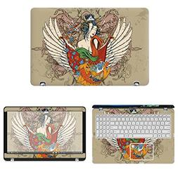 decalrus Protective Decal Tattoo Skin Sticker for Asus Q504U