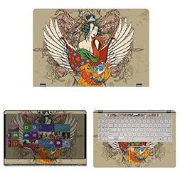 decalrus Protective Decal Tattoo Skin Sticker for Asus Q505U