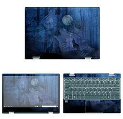 decalrus - Protective Decal Wolves Skin Sticker for Lenovo Y