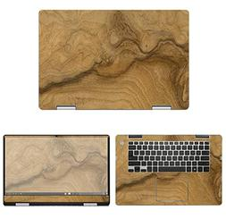 decalrus - Protective Decal Wood Burl Skin Sticker for Dell