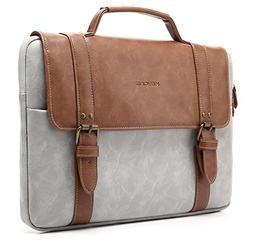 KAYOND PU Leather Briefcase,Laptop Sleeve Bag Case for 14-