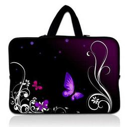 "Purple Butterfly 10in Case Bag For 9.7"" 10"" 10.1"" 10.2"" iPad"