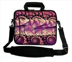 Purple Rose Gold Laptop Case Neoprene for 15 inch Macbook Pr
