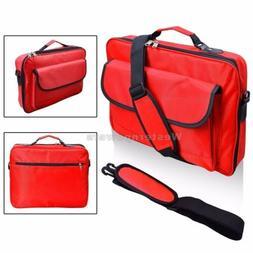"""Red Laptop Case Shoulder Messenger Bag 10.1"""" 11.6"""" 12.5"""" 13."""