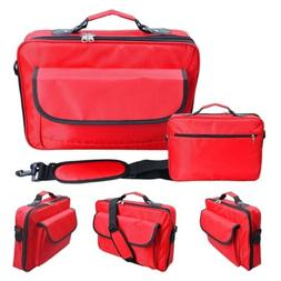 """Red Laptop Notebook Carrying Briefcase Inch Bag Case 10.1"""" 1"""