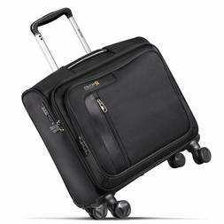 REYLEO Rolling Briefcase on 8 Wheels Rolling Laptop Bag Roll