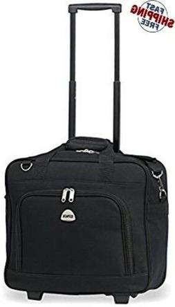 Rolling Laptop Case 17 Inch Wheeled Briefcase For Women Busi