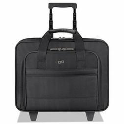 Solo Rolling Laptop Case, Poly, 16 x 6 1/2 x 15, Black