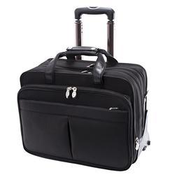 McKlein USA Roosevelt Nylon Detachable-Wheeled Laptop Case