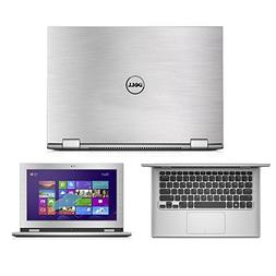 Silver Brushed Aluminum skin decal wrap skin case for Dell I