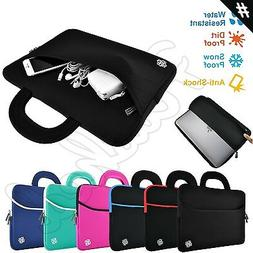 """Slim Notebook Sleeve Carrying Case Cover Bag Handle for 15"""""""