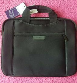 """Targus Slipskin Laptop Bag NWT 14"""" Hideaway Handles Black Ca"""