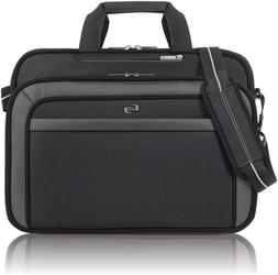 Solo Empire 17.3 Inch Laptop Briefcase, TSA Friendly, Black/