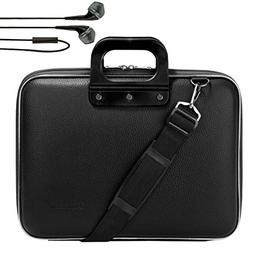 SumacLife Jet Black Messenger Bag Carrying Case w/ Black In-