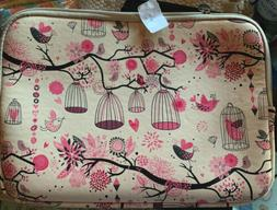 """Tablet Laptop Case Varylala Bag Cover Coated Canvas 11"""" Bird"""