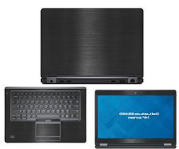 Decalrus - Dell Latitude E5450  laptop BLACK Texture Brushed