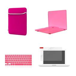 TOP CASE 4 in 1 Bundle - Crystal Hard Case Cover + Matching
