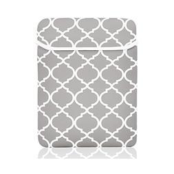 TopCase Gray Quatrefoil / Moroccan Trellis Sleeve Bag Case C