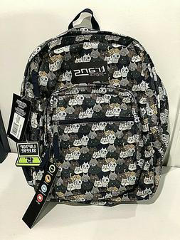 """Trans By JanSport 17"""" SuperMax Cat Backpack Cat Crowd Navy M"""