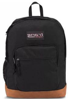 """Trans by Jansport 17"""" SuperCool Backpack - Black with Brown"""