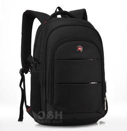 """Travel 17"""" Laptop Backpack School Bag Hiking Rucksack Should"""