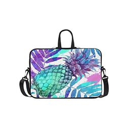 InterestPrint Tropical Beach Pineapple Laptop Sleeve Case Ba