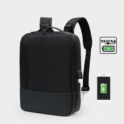 USB Charging 15.6 Inch Laptop Case Back Pack Travel Handle T
