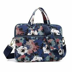 kayond Watercolor Orchid Canvas Fabric 15.6 inch Shoulder Ba