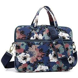 kayond Watercolor Orchid Canvas Fabric 13.3 inch Shoulder Ba