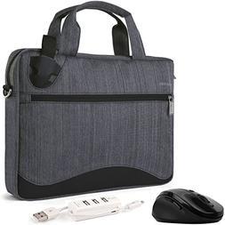 VanGoddy Wave Slim Charcoal Gray Anti Theft Laptop Bag + HDM