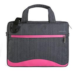 VanGoddy Wave Slim Magenta Anti Theft Messenger Bag for Dell