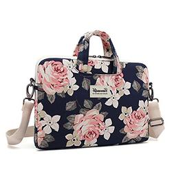 canvaslife White Rose Waterproof Patten Canvas Laptop Should